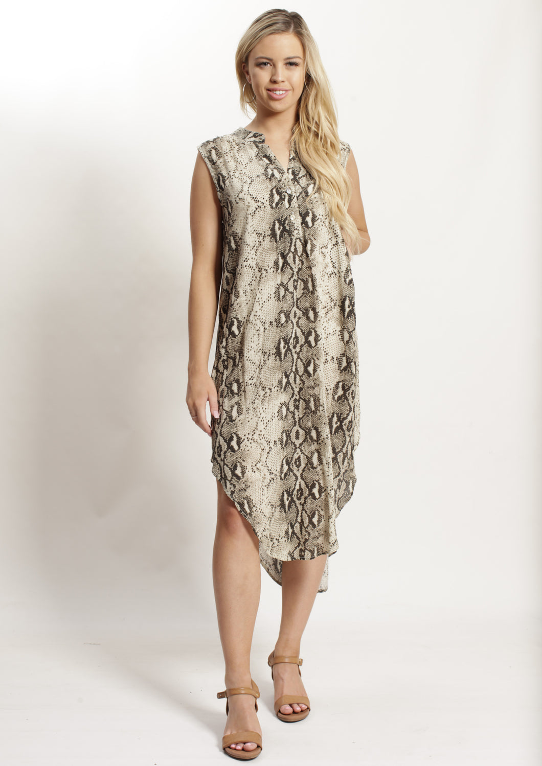 YW2336-3SS Snake Skin Print Tunic (Pack)