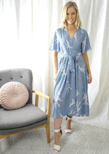 YW2156-4SS Blossom Print Wrap Dress  (Pack)
