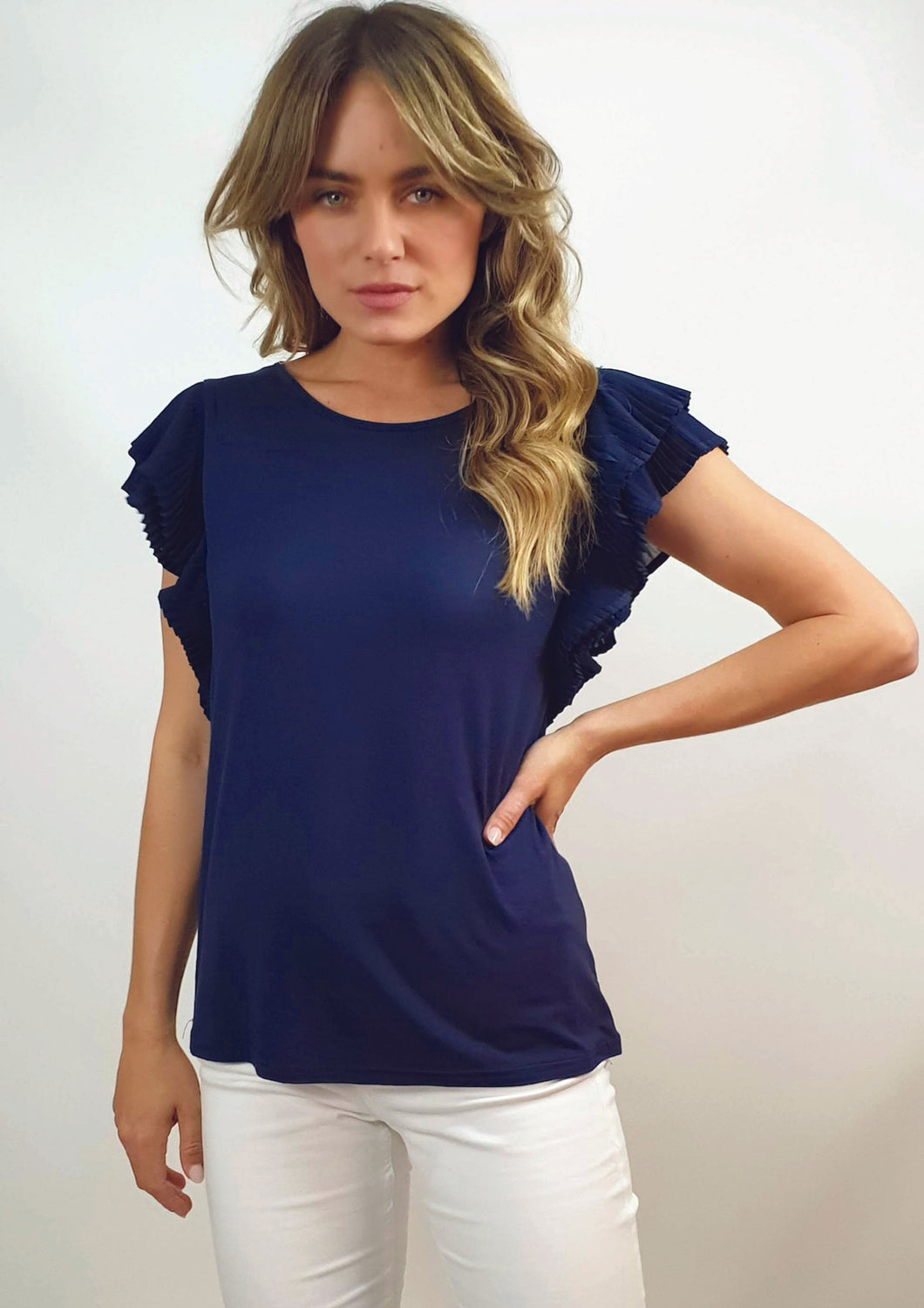RV1122SS Pleated Short Sleeve Top (Pack)