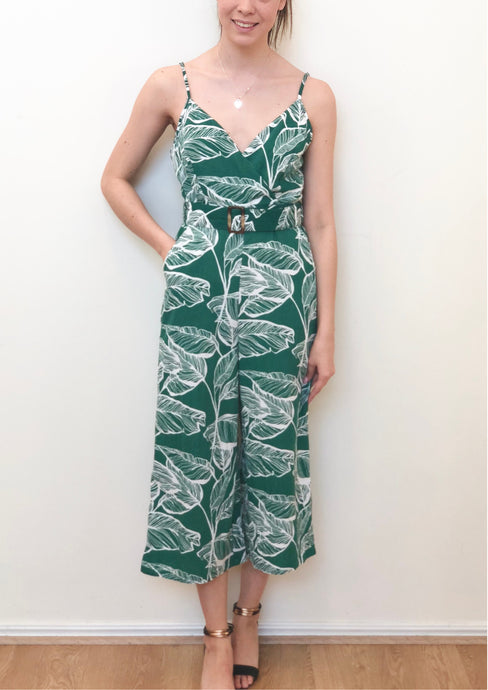 ZW16528SS Leaf Print Jumpsuit (Pack) New Arrival