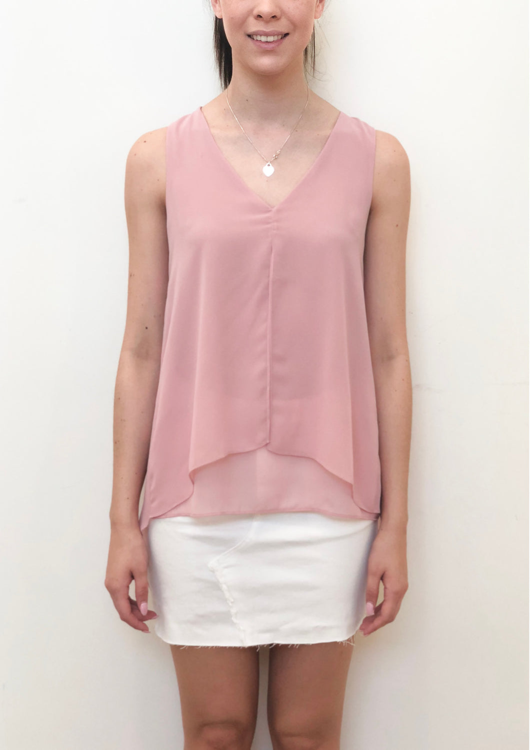 V202SS V-Neck Layered Top (Pack) New Arrival