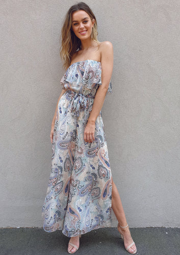 LA4508SS Boho Print Jumpsuit (Pack) New Arrivals