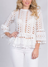PER108SS Crochet Bell Sleeve Top (Pack)