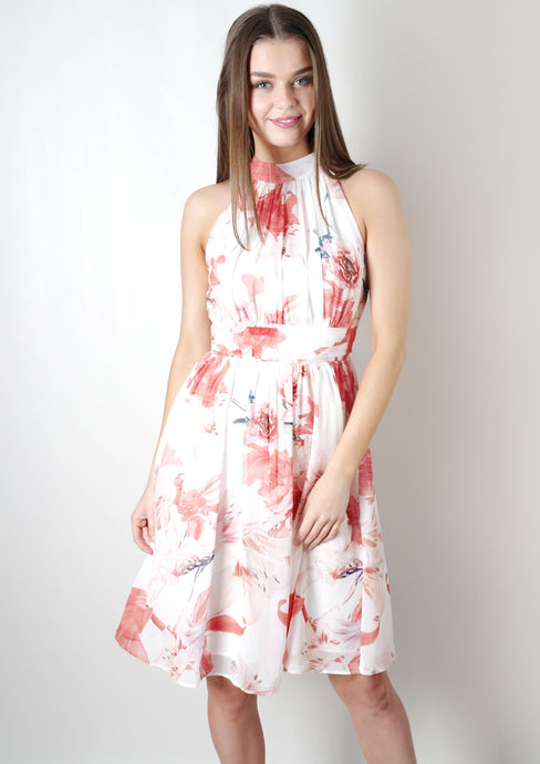 WA2123TB High Neck Printed Dress(Pack) New Arrival