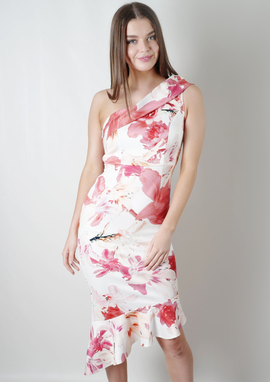 RV1023-4TB High Neck Printed Dress(Pack) New Arrival