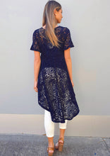 LA0042-1TB Navy Lace Top (Pack)
