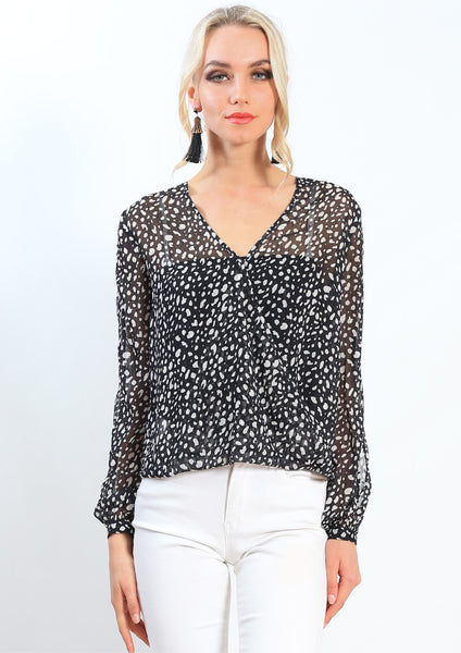 CAS0092-2SS Leopard Print Top (Pack) New Arrivals