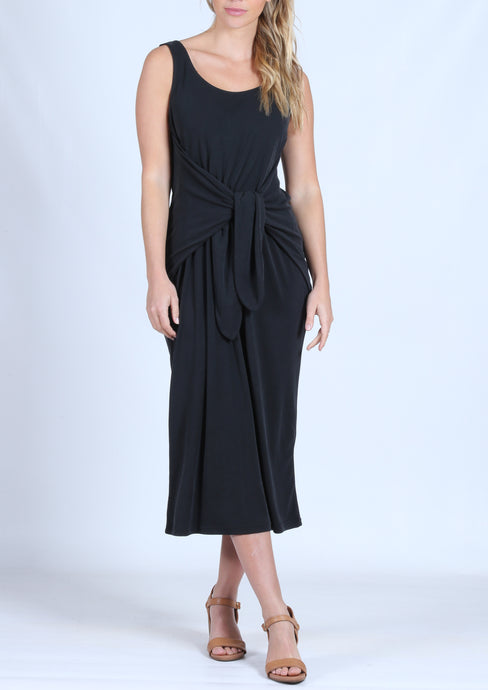 YW2182SS Tie Front Sleeveless Long Dress (Pack) New Arrival