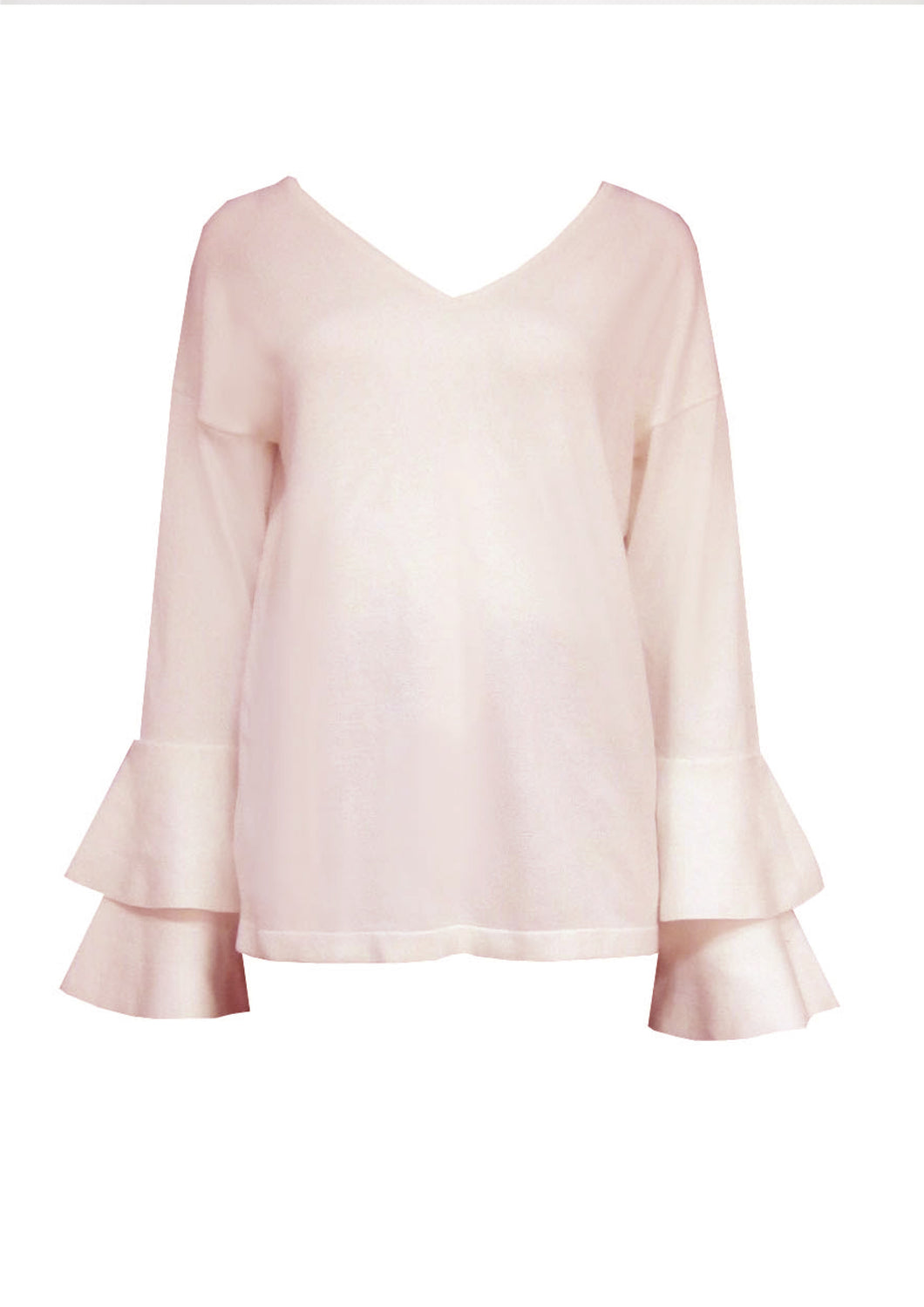 F2599-2SS Double Layered Bell Sleeve Top (Pack) New Arrival