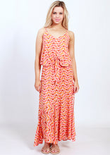 YW2326SS Geometric Draped Front Maxi (Pack)