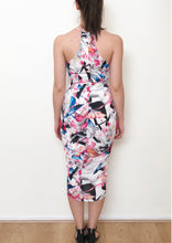 WV233-3SS Floral Halterneck Tulip Dress (Pack) New Arrival