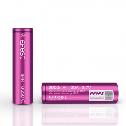 Efest Purple 18650 IMR Battery • 3000mAh