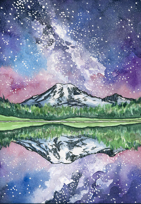 Let's Paint Rainier together Watercolor Night, May 25th