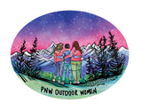 PNW Outdoor Women Sticker