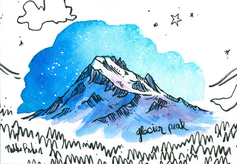 Glacier Peak in Blue