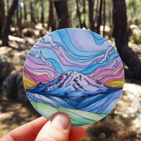 Rainier Alpenglow Sticker