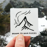 Drawn to High Places Clear Sticker