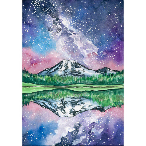 Rainier Reflected Card
