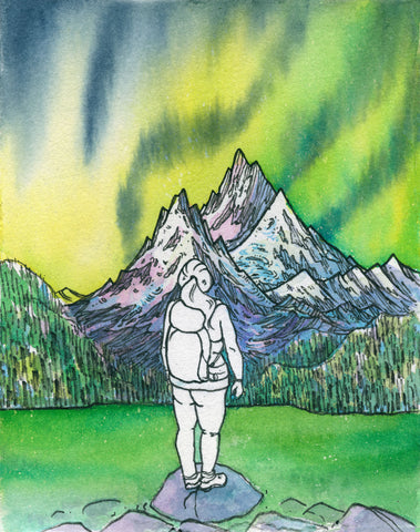 Northern Lights Hike Card