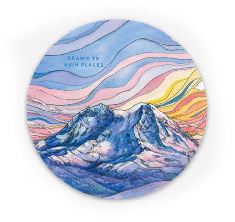 Rainier at Sunrise Sticker