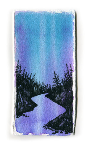 Northern Lights Purple Lake Study