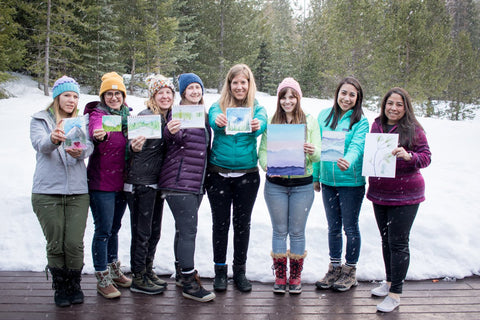 Mount Hood Weekend Watercolor Retreat 2020