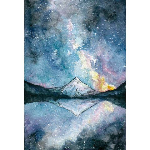 Mount Hood Watercolor Card