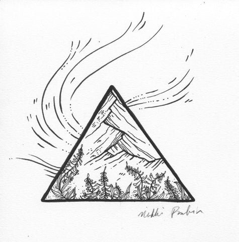 Triangle Mountain with Fireweed