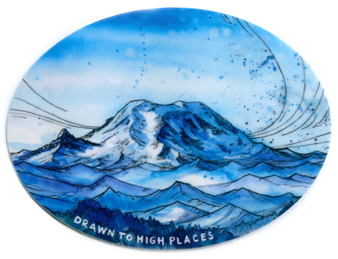 Rainier from Granite Mountain Sticker