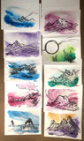 Watercolor and Ink Greeting Cards