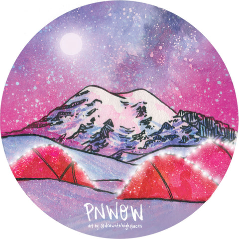 PNW Outdoor Women Winter Sticker