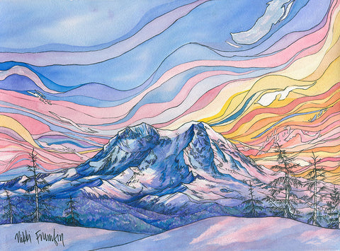 Rainier at Sunrise Card