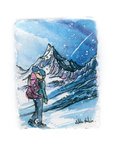 Mountain Mom Watercolor
