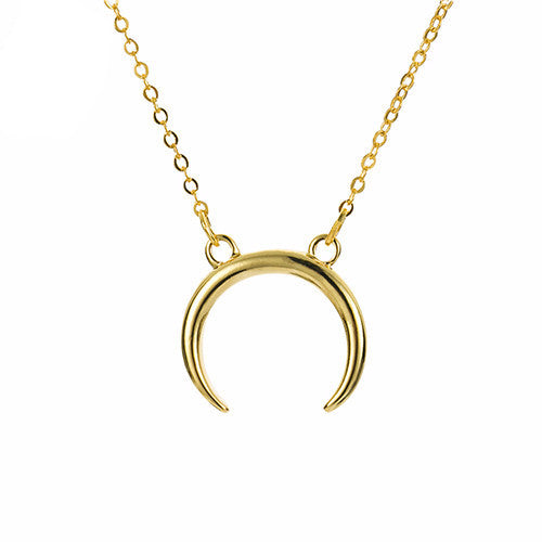 Minimal Crescent Necklace