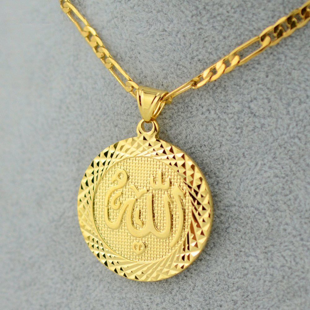 Egyptian allah pendant necklace sahara gold jewelry egyptian allah pendant necklace aloadofball Images