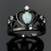Elegant Crown Opal Ring