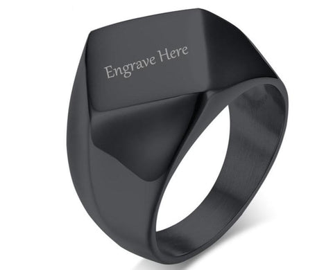 Engraved Ring - Flat Top
