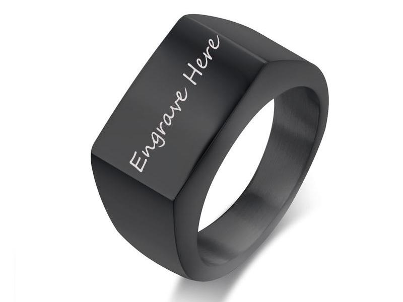 Engraved Ring - Big Width