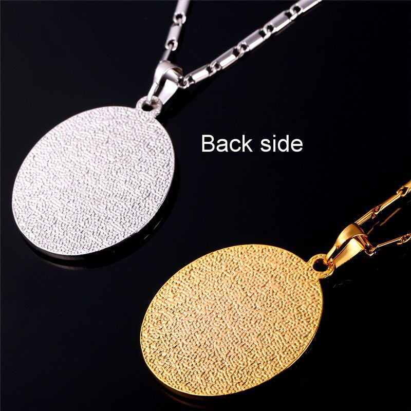 Goldsilver plated allah pendant necklace sahara gold jewelry goldsilver plated allah pendant necklace aloadofball Image collections