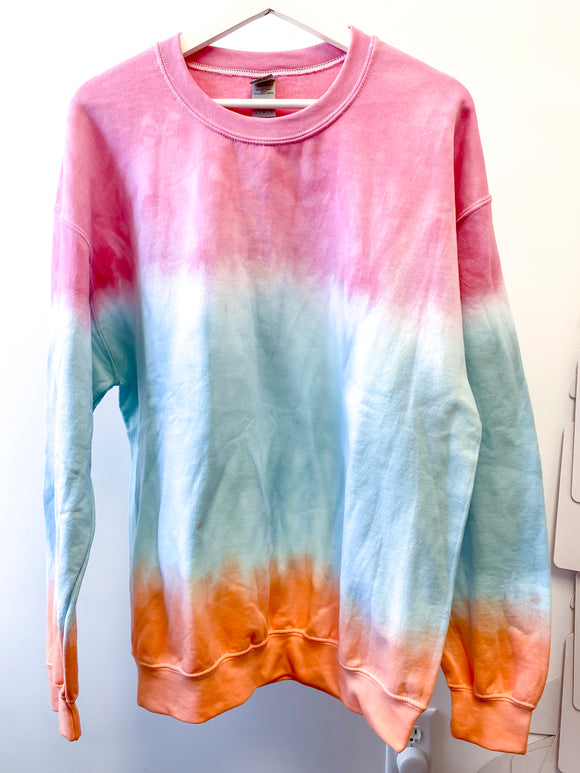 Sunset Dip Dye Sweatshirt