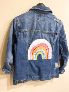 Retro Rainbow Denim Jacket