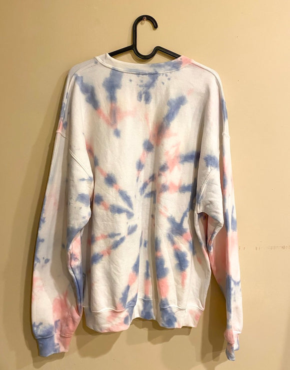 Make it Pink/Blue Tie Dye Sweatshirt