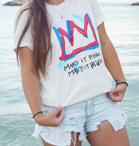 Make It Pink/Make It Blue Tee