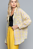 Violet Lemonade Plaid Top