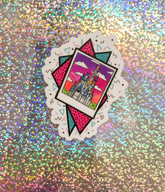 90s castle sticker