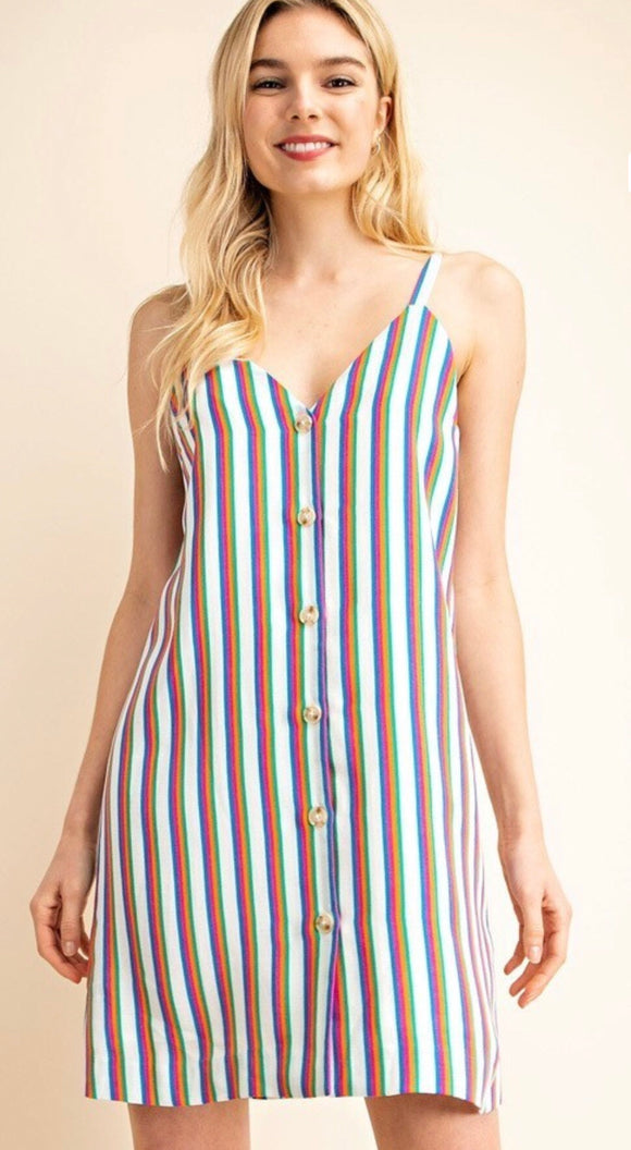 Springs Fling Striped Dress