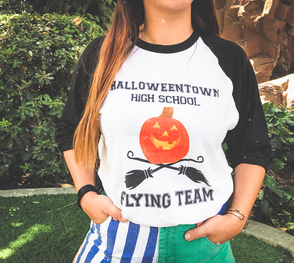 Halloweentown Flying Raglan