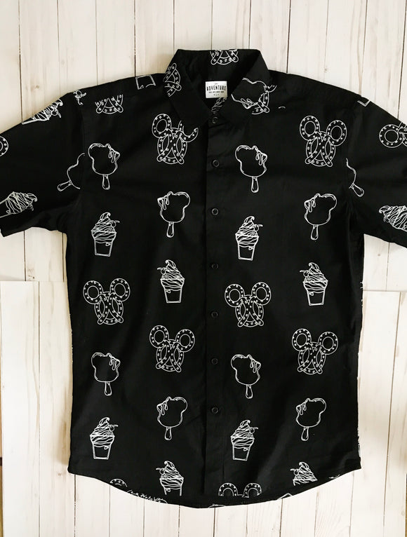 Snack Attack Button Down (Black)