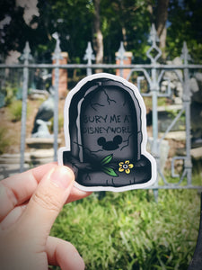 Tombstone Sticker