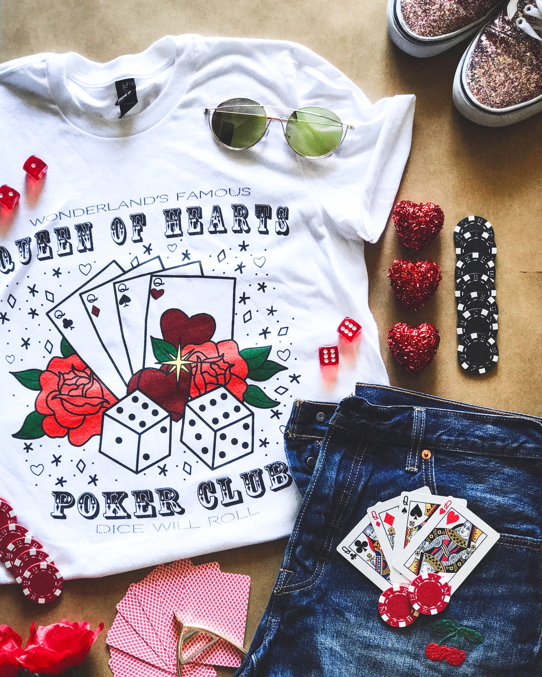 Hearts Poker Club Tee